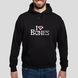 I Love Bones Hoodie (dark)