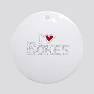 I Love Bones Ornament (Round)