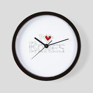 I Love Bones Wall Clock