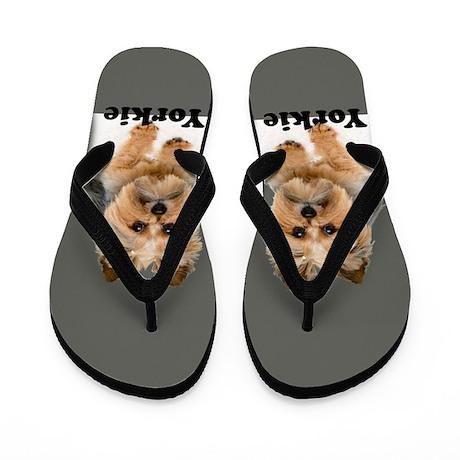 Yorkie Fofa Rocks Flip Flops