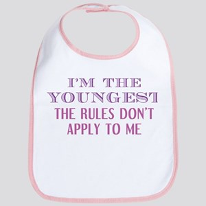 I'm The Youngest Baby Bib