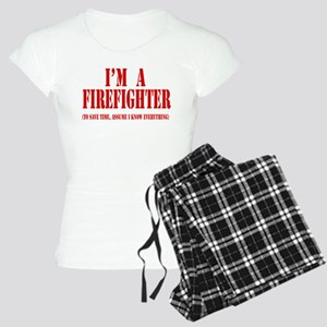 I'm A Firefighter- Red Women's Light Pajamas