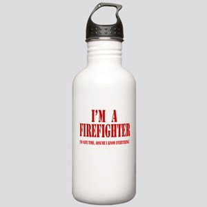 I'm A Firefighter- Red Stainless Water Bottle 1.0L