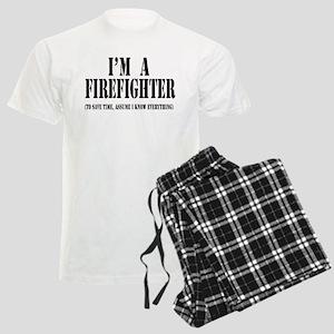 I'm A Firefighter-Light Men's Light Pajamas