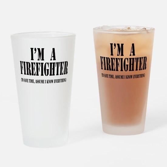 I'm A Firefighter-Light Drinking Glass