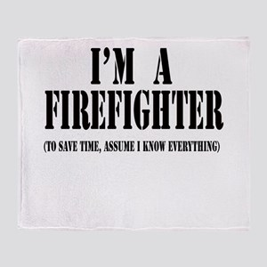 I'm A Firefighter-Light Throw Blanket