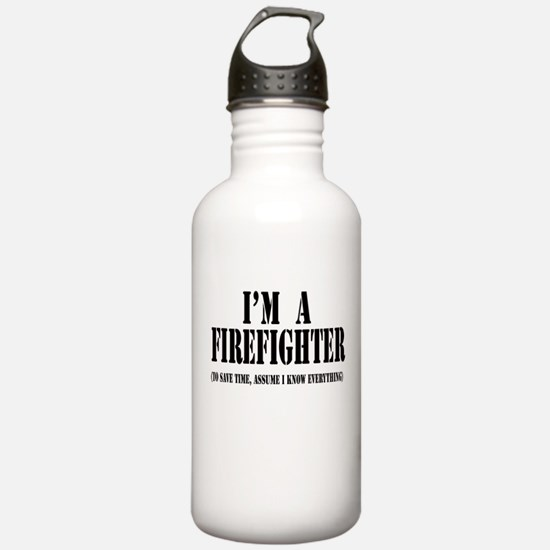 I'm A Firefighter-Light Water Bottle