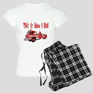 How I Roll- Fire Truck Women's Light Pajamas