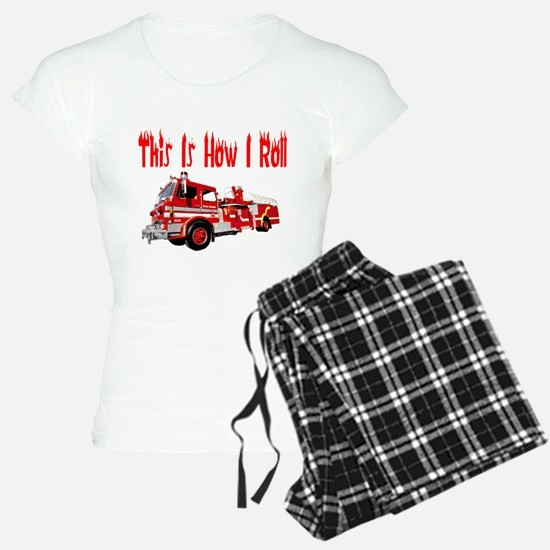 How I Roll- Fire Truck Pajamas