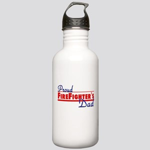 Proud Firefighter's Dad Stainless Water Bottle 1.0