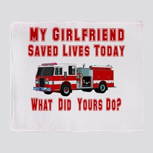 What Did Your's Do? Girlfrien Throw Blanket