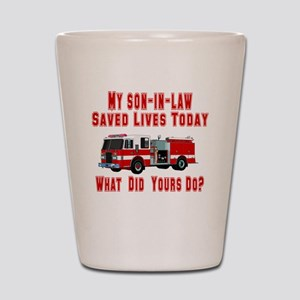 Son In Law-What Did Yours Do? Shot Glass