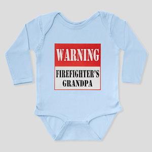 Firefighter Warning-Grandpa Long Sleeve Infant Bod