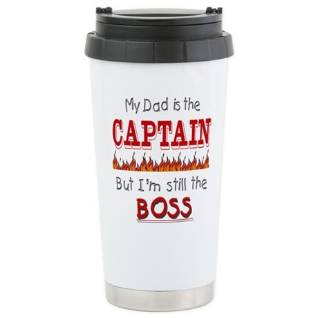 Dad is CAPTAIN Stainless Steel Travel Mug