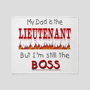 Dad is LIEUTENANT Throw Blanket