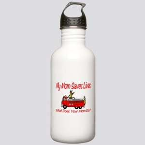 Firefighter Saves Lives-Mom Stainless Water Bottle