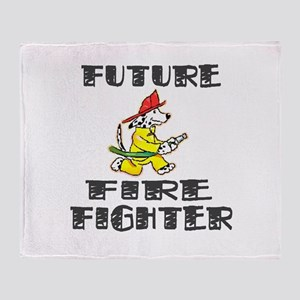 Future Fire Fighter Throw Blanket