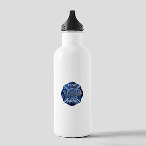 Maltese Cross-Blue Flame Stainless Water Bottle 1.
