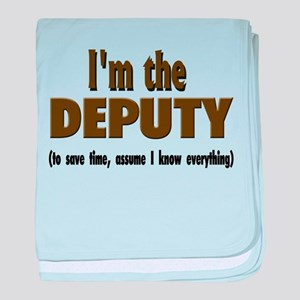 I'm the Deputy baby blanket