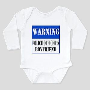 Police Warning-Boyfriend Long Sleeve Infant Bodysu