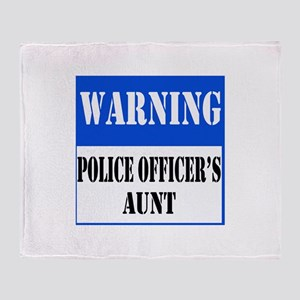 Police Warning-Aunt Throw Blanket
