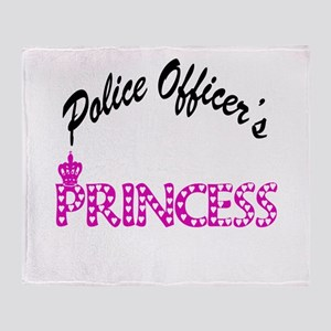 Police Officer's Princess Throw Blanket