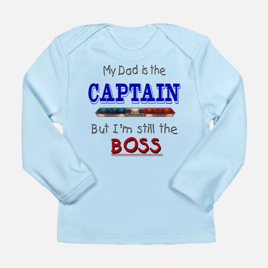 Dad is CAPTAIN Long Sleeve Infant T-Shirt