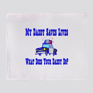 Police Saves Lives-Daddy Throw Blanket