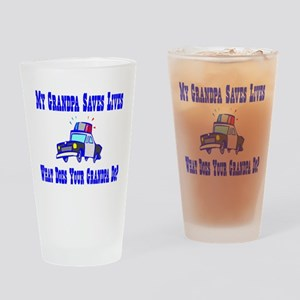 Police Saves Lives-Grandpa Drinking Glass