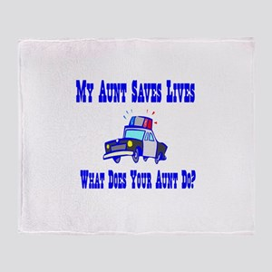 Police Saves Lives-Aunt Throw Blanket