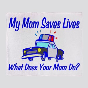 Police,Saves Lives-Mommy Throw Blanket