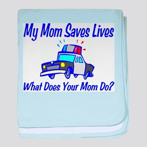 Police,Saves Lives-Mommy baby blanket