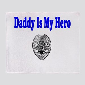 Police Hero-Daddy Throw Blanket
