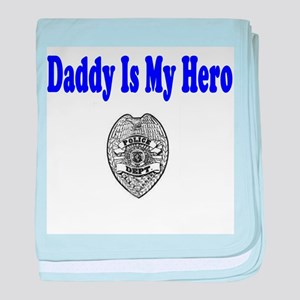Police Hero-Daddy baby blanket