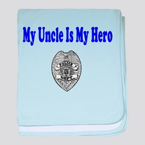 Police Hero-Uncle baby blanket