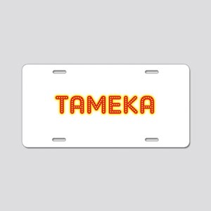 Tameka in Movie Lights Aluminum License Plate