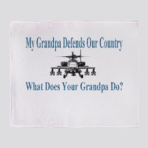 Military Helicopter-Grandpa Throw Blanket