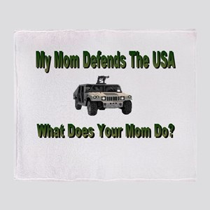 Military Hummer-Mommy Throw Blanket