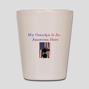 American Hero Grandpa Shot Glass