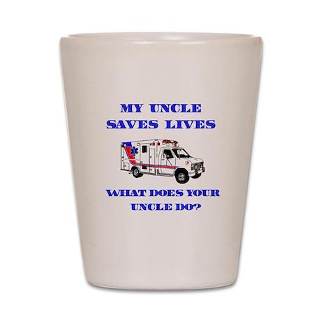 Ambulance Saves Lives-Uncle Shot Glass