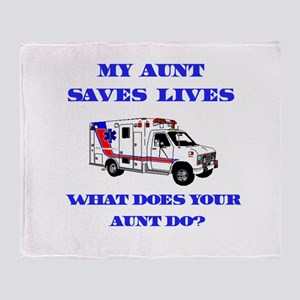 Ambulance Saves Lives-Aunt Throw Blanket