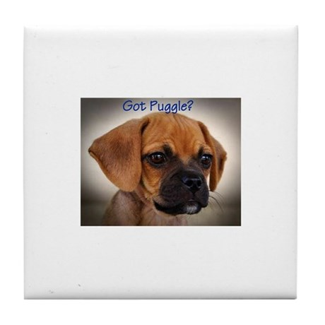 Got Puggle ? Tile Coaster