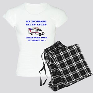 Ambulance Saves Lives-Husband Women's Light Pajama
