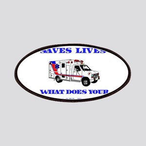 Ambulance Saves Lives-Son Patches