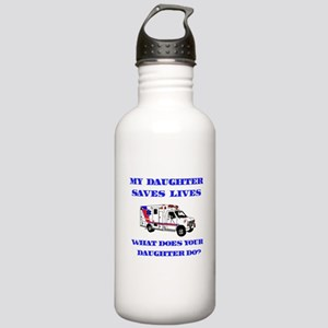 Ambulance Saves Lives-Daughte Stainless Water Bott