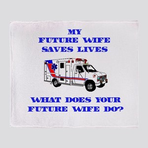 Ambulance Saves Lives- Future Throw Blanket