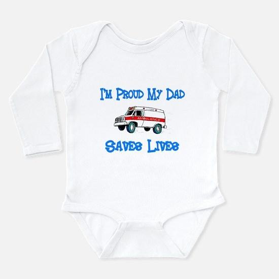 Ambulance Pride-Dad Long Sleeve Infant Bodysuit