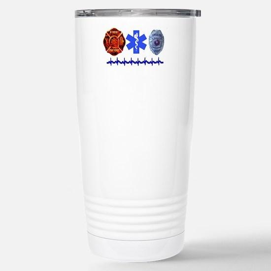 Superhero- Back Design Stainless Steel Travel Mug