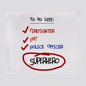 Superhero To Do List Throw Blanket