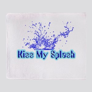 Kiss My Splash Throw Blanket